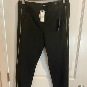 Express Columnist Ankle Pant with Gold Stripe